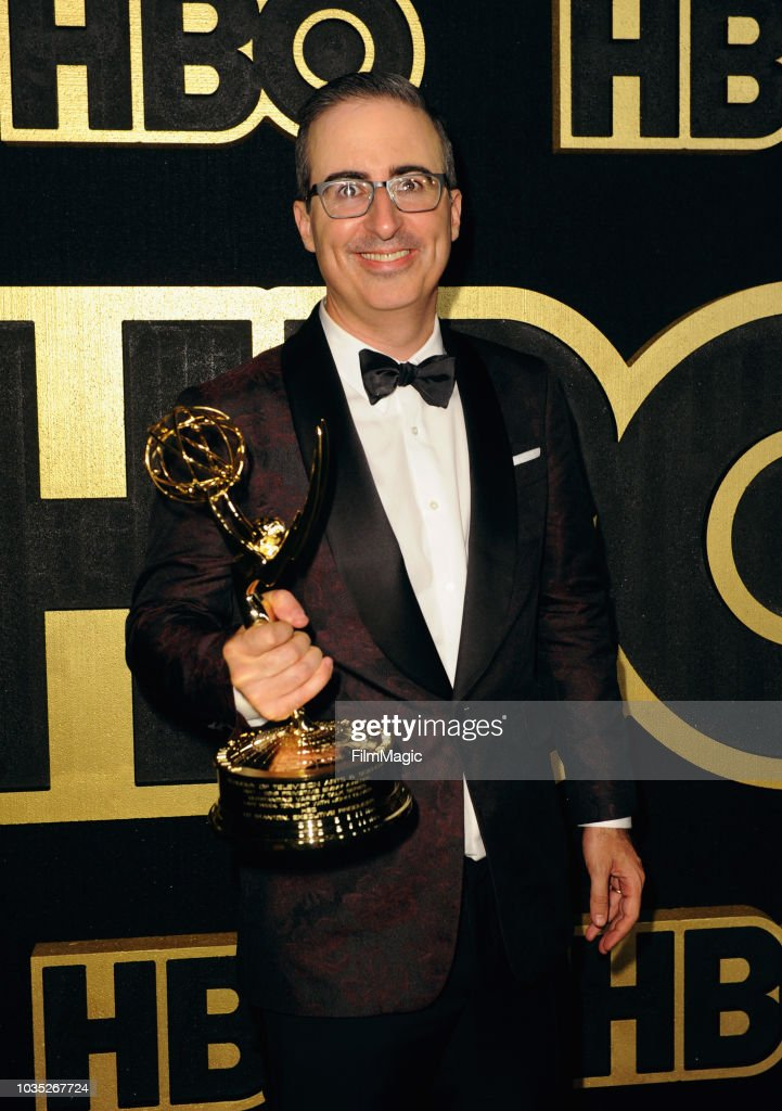 John Oliver, winner of the award for Outstanding Writing for a Variety Series for 'Last Week Tonight with John Oliver,' arrives at HBO's Official 2018 Emmy After Party on September 17, 2018 in Los Angeles, California.