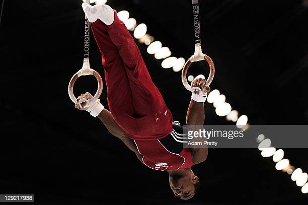 John Orozco of the USA on the Rings aparatus in the Men's All Around Final during day eight of the Artistic Gymnastics World Championship Tokyo 2011...