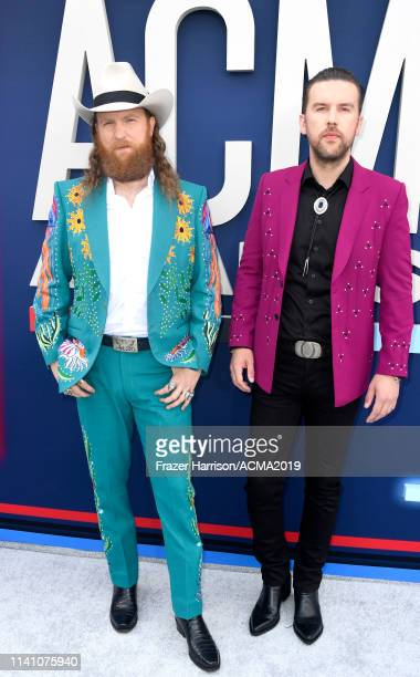 John Osborne and TJ Osborne of Brothers Osborne attend the 54th Academy Of Country Music Awards at MGM Grand Hotel Casino on April 07 2019 in Las...