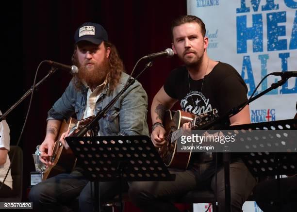 John Osborne and TJ Osborne of Brothers Osborne perform at City Winery Nashville on February 28 2018 in Nashville Tennessee