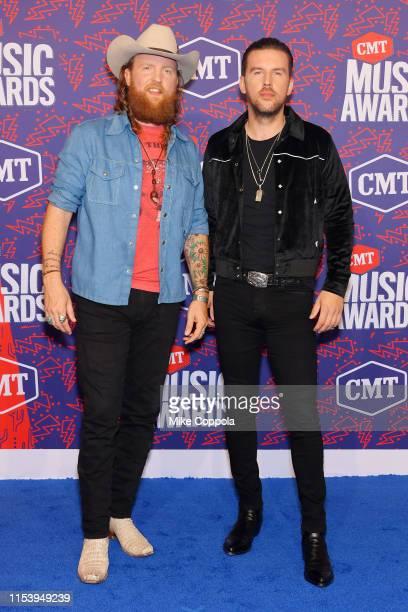 John Osborne and TJ Osborne of musical duo Brothers Osborne attend the 2019 CMT Music Award at Bridgestone Arena on June 05 2019 in Nashville...