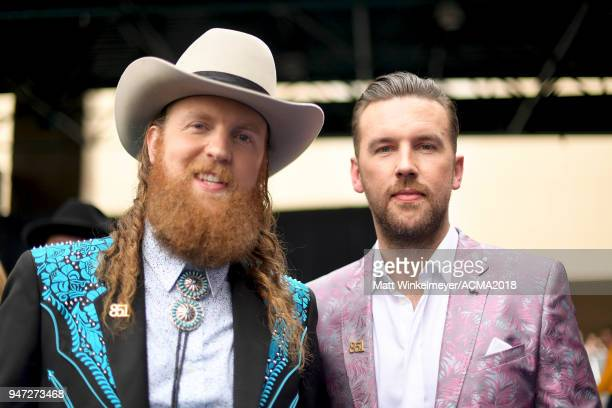 John Osborne and TJ Osborne of musical group Brothers Osborne attends the 53rd Academy of Country Music Awards on April 15 2018 in Las Vegas Nevada