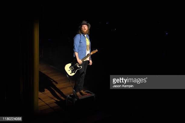 John Osborne of Brothers Osborne performs at Ryman Auditorium on February 16 2019 in Nashville Tennessee
