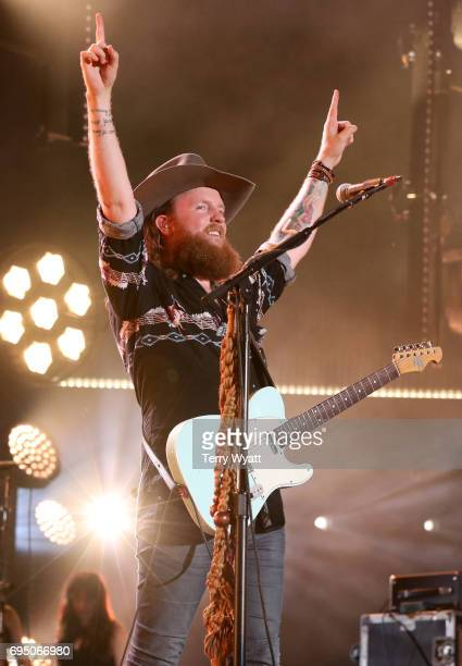 John Osborne of Brothers Osborne performs during day 4 of the 2017 CMA Music Festival on June 11 2017 in Nashville Tennessee