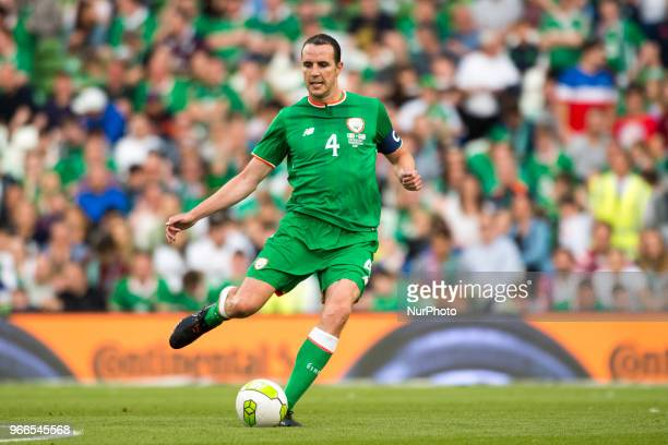 John O'Shea of Ireland controls the ball during the International Friendly match between Republic of Ireland and USA at Aviva Stadium in Dublin...