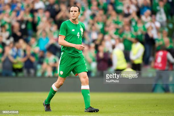 John O'Shea of Ireland leaves the pitch during the International Friendly match between Republic of Ireland and USA at Aviva Stadium in Dublin...