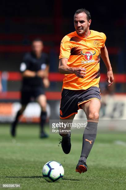 John O'Shea of Reading in action during the preseason friendly between Reading and Fulham at the EBB Stadium on July 14 2018 in Aldershot England