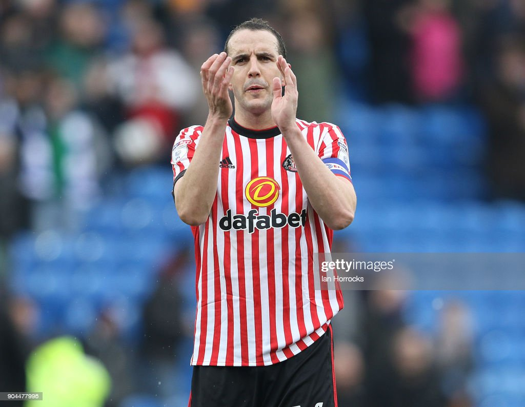 John O,Shea of Sunderland during the Sky Bet Championship match between Cardiff City and Sunderland at Cardiff City Stadium on January 13, 2018 in Cardiff, Wales.