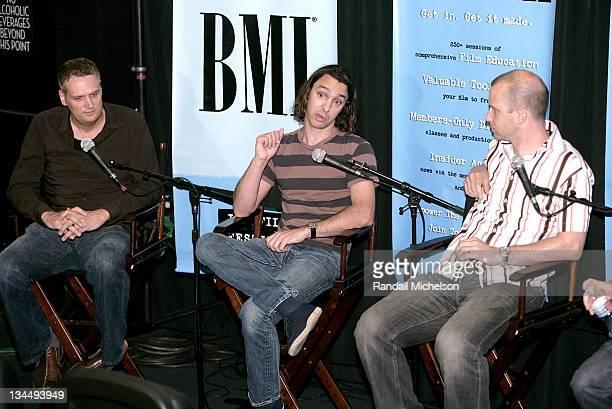 John Ottman Brian Reitzell and Teddy Shapiro during Los Angeles Film Festival BMI Composers Coffee Talk in Los Angeles California United States