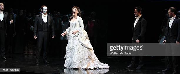 John Owen Jones Hugh Panaro Sierra Boggess Ramin Karimloo Peter Joback during the 'Phantom of the Opera' 25 Years on Broadway Gala Performance...
