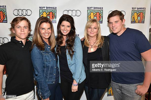 John Owen Lowe author Maria Shriver author Katherine Schwarzenegger Sheryl Berkoff and Christopher Schwarzenegger attend the Best Buddies' Bowling...