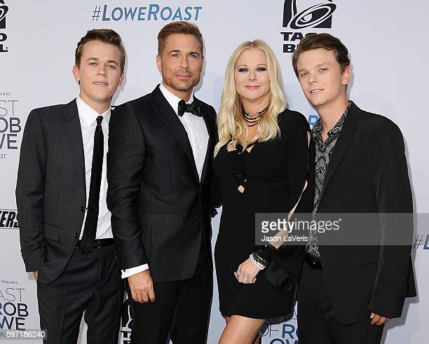 John Owen Lowe honoree Rob Lowe Sheryl Berkoff and Matthew Edward Lowe attend the Comedy Central Roast of Rob Lowe at Sony Studios on August 27 2016...