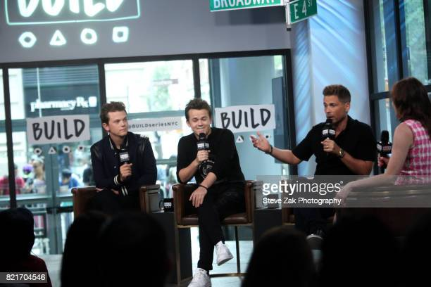 John Owen Lowe Matthew Lowe and Rob Lowe attend Build Series to discuss their new show 'The Lowe Files' at Build Studio on July 24 2017 in New York...