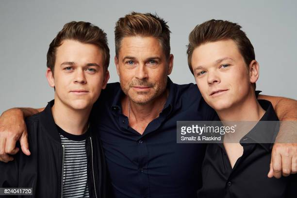John Owen Lowe producer Rob Lowe and Matthew Lowe of AE's 'The Lowe Files' pose for a portrait during the 2017 Summer Television Critics Association...