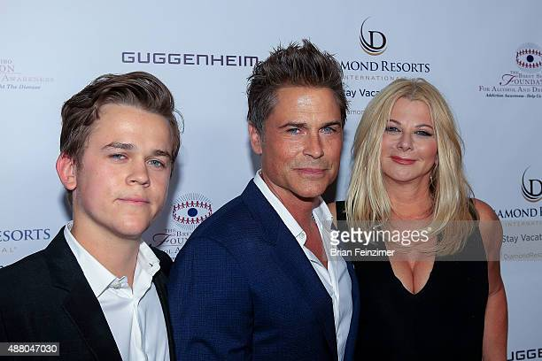 John Owen Lowe Rob Lowe and and Sheryl Berkoff at The Brent Shapiro Foundation's Summer Spectacular on September 12 2015 in Beverly Hills California