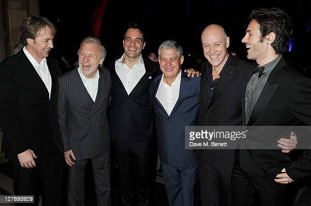 John OwenJones Colm Wilkinson Ramin Karimloo Sir Cameron Mackintosh Anthony Warlow and Peter Joback attend an afterparty following the 25th...