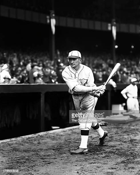 John P Boley of the Philadelphia Athletics swinging a bat in 1927