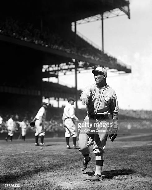 John P Quinn of the Philadelphia Athletics throwing a ball in 1927