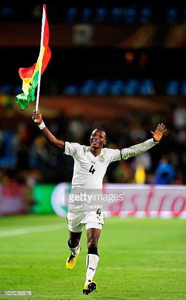 John Pantsil of Ghana celebrates victory during the 2010 FIFA World Cup South Africa Group D match between Serbia and Ghana at Loftus Versfeld...