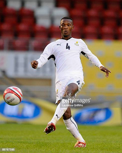John Pantsil of Ghana in action during the International Friendly match between Ghana and Zambia at Brisbane Road on August 12 2009 in London England