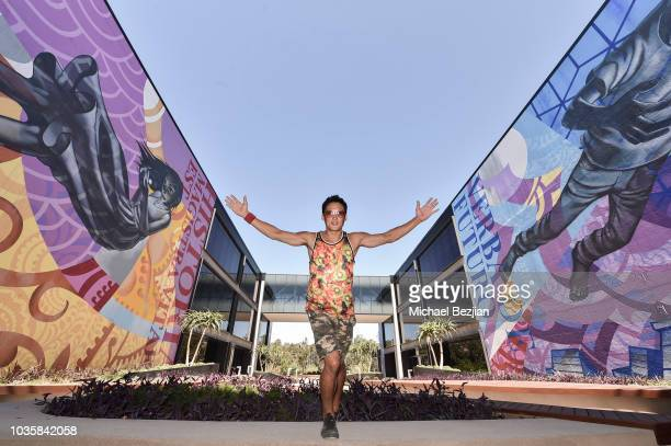 Mural by John Park at The Artist Project Visits John Park Completes LargeScale Murals At Ampersan on September 18 2018 in San Diego California