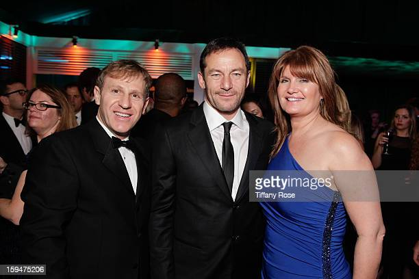 John Partouche Jason Isaacs and Alexa Jago attend the NBC/Universal/Focus Features/E Networks Golden Globe Awards Celebration Designed And Produced...