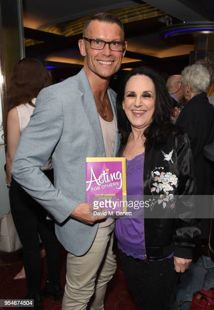 John Partridge and Lesley Joseph attend the Acting For Others Golden Bucket Awards at The Prince of Wales Theatre on May 4 2018 in London England