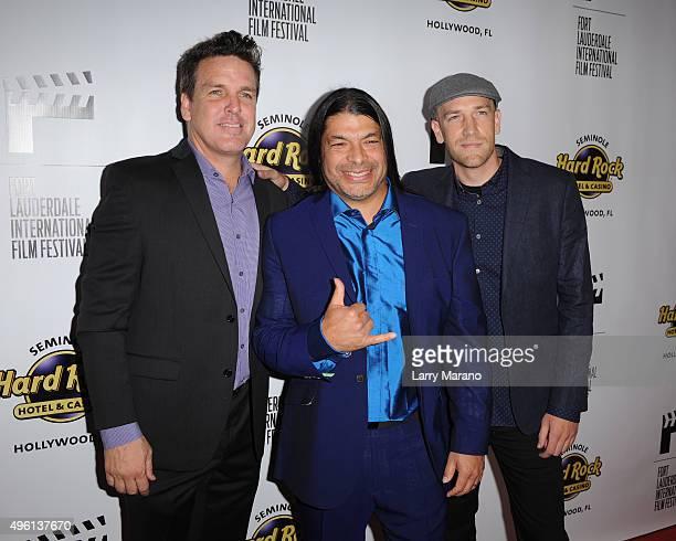 John Pastorius Robert Trujillo and Paul Marchand attend the Fort Lauderdale International Film Festival Opening Night at Seminole Hard Rock Hotel on...