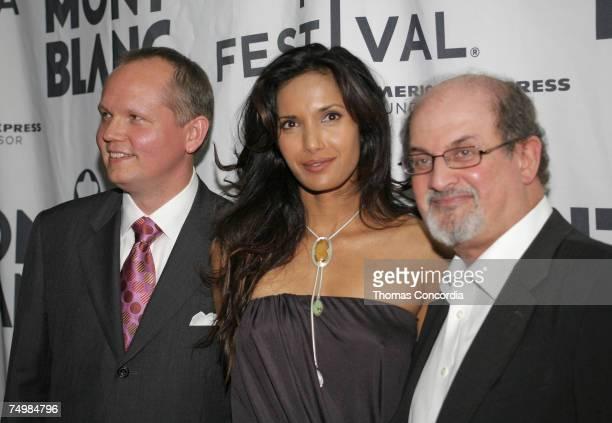 John Patrick CEO of Montblanc Padma Lakshmi Salman Rushdie
