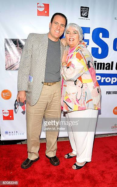 John Patrick Patti and Xaviera Hollander attend the Vote Yes For The Prevention of Farm Animal Cruelty Act Party on July 27 2008 in Beverly Hills...