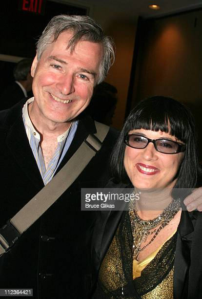 John Patrick Shanley and Eve Ensler during 71st Annual Drama League Awards at Marriott Marquis Hotel in New York NY United States