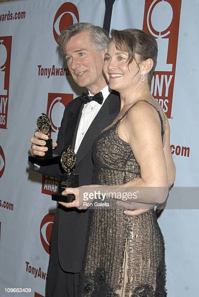 John Patrick Shanley winner Best Play for 'Doubt' and Cherry Jones winner Best Performance by a Leading Actress in a Play for 'Doubt'
