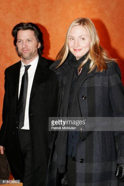 John Patrick Walker and Hope Davis attend Opening Night of Present Laughter at American Airlines Theater on January 21 2010 in New York City