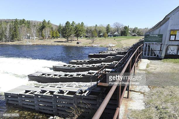 John Patriquin/Staff PhotographerSatMay 1 2010 Historic Upper dam on Mooselookmeguntic Lake in Oquossoc to be replaced by Florida Power