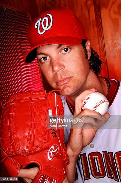 John Patterson of the Washington Nationals poses during Photo Day on February 25 2007 at Space Coast stadium in Viera Florida