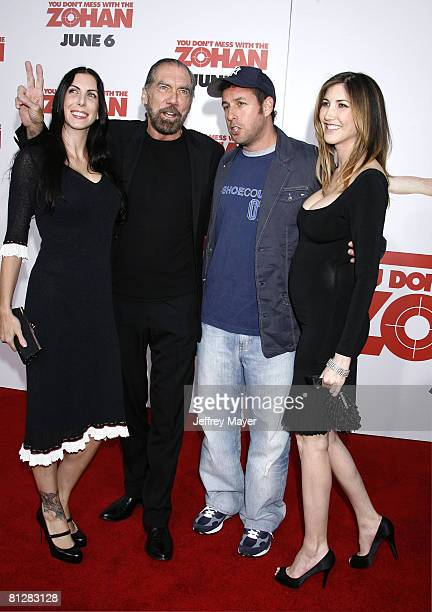 """John Paul Dejoria , Adam Sandler and Jackie Sandler arrive at Sony Pictures Premiere of """"You Don't Mess With the Zohan"""" on May 28, 2008 at Grauman's..."""