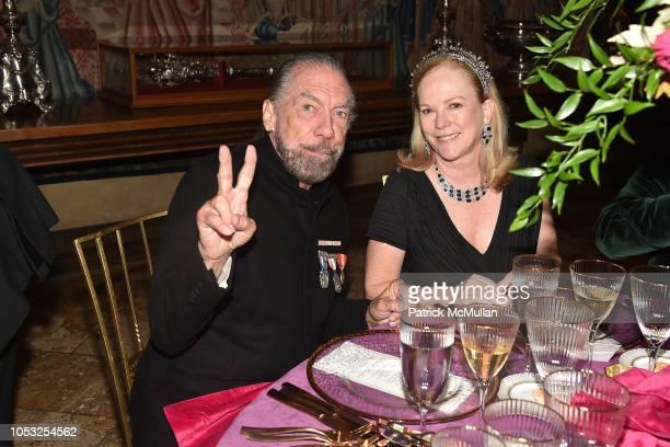 John Paul DeJoria and Anne Hearst McInerney attend Hearst Castle Preservation Foundation - Hollywood Royalty Dinner at Hearst Castle on September 28,...