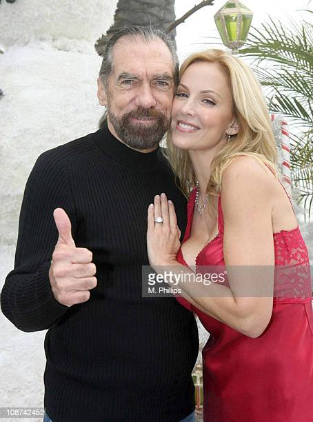 John Paul DeJoria and Eloise DeJoria during Snowy Christmas Eve in Malibu December 24 2005 at Private Residence in Malibu CA United States