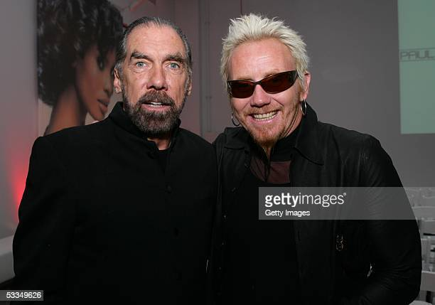John Paul DeJoria and Robert Cromeans attend the John Paul Mitchell Systems Express Style hair products launch party at Splashlight Studios August 9...