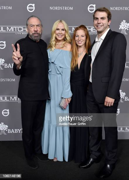 John Paul DeJoria Eloise Broady DeJoria guest and John Anthony DeJoria attend the 2018 Baby2Baby Gala Presented by Paul Mitchell at 3LABS on November...
