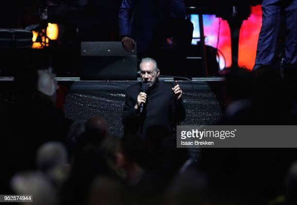 John Paul DeJoria speaks during the 22nd annual Keep Memory Alive 'Power of Love Gala' benefit for the Cleveland Clinic Lou Ruvo Center for Brain...