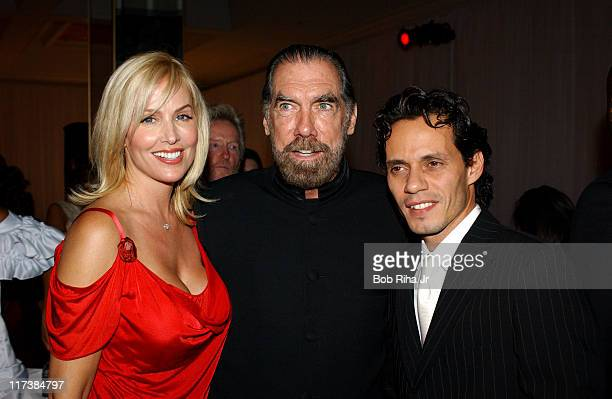 John Paul DeJoria with his wife Eloise and Marc Anthony in Beverly Hills Calif on Saturday Oct 2 2004 for the inaugural Noche de Nios Gala a...