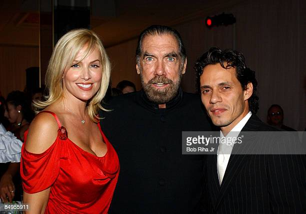 John Paul DeJoria with his wife Eloise and Marc Anthony in Beverly Hills Calif on Saturday Oct 2 2004 for the inaugural Noche de Ni�os Gala a...