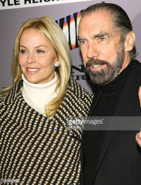John Paul DeJoria with his wife Eloise during The Boyle Heights Music and Arts Program Launch Arrivals at Boyle Heights School in Los Angeles...