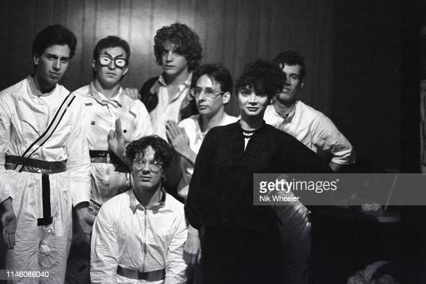 LOS ANGELES JANUARY 1979 John Paul Getty III grandson of former world's richest man Paul Getty poses for photo with punk rock band he sponsored and...