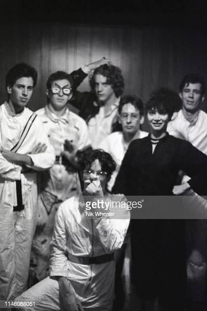 LOS ANGELES JANUARY 1979 John Paul Getty III grandson of former world's richest man Paul Getty stands in back row of rock music band he managed and...