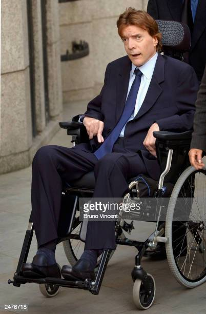 John Paul Getty III leaves the memorial mass held for Sir John Paul Getty II September 9 2003 in London England The Americanborn philanthropist and...