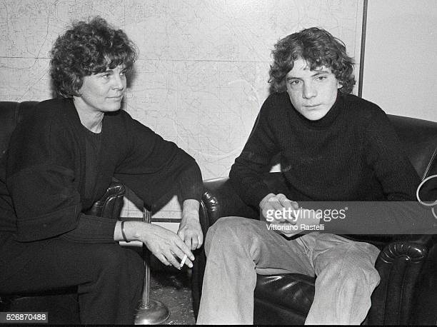 John Paul Getty III with his mother at Rome's Police Headquarters. Eldest of the four children of John Paul Getty, Jr. And Abigail Harris , and...