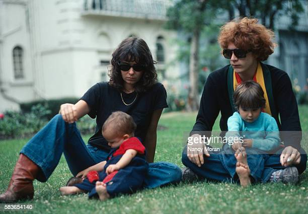 John Paul Getty III with his wife Gisela and children Anna and Balthazar 1976