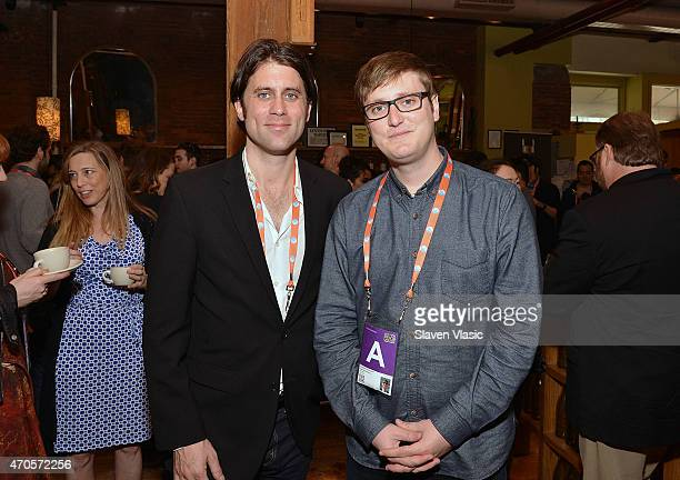 John Paul Hortsmann and Todd Wiseman Jr attend Directors Brunch during the 2015 Tribeca Film Festival at City Winery on April 21 2015 in New York City